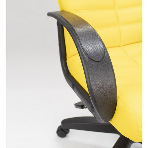 "Кресло ""Орион мини Пластик"" из эко-кожи ""Латте 411"" желтого цвета"