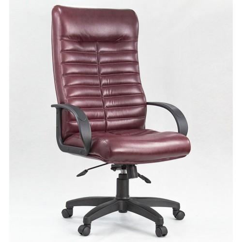 "Кресло ""Орион Пластик"" из эко-кожи ""Атлас 942"" бордового цвета"