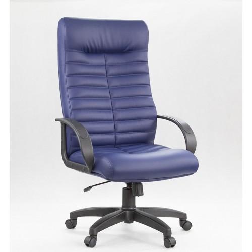 "Кресло ""Орион пластик"" из эко-кожи ""Латте 417"" синего цвета"