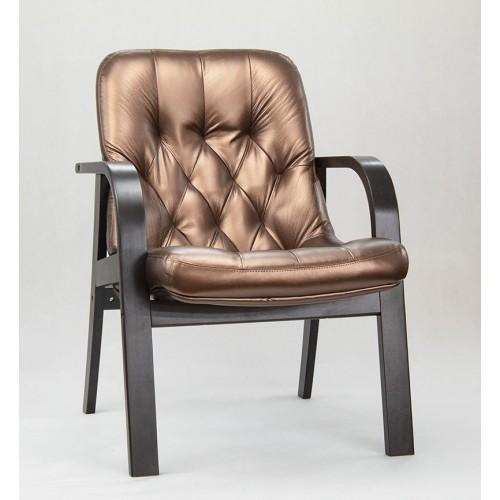 """Кресло для посетителей Премьер ДО из эко-кожи """"Вегас Сиена"""" бронзового цвета"""