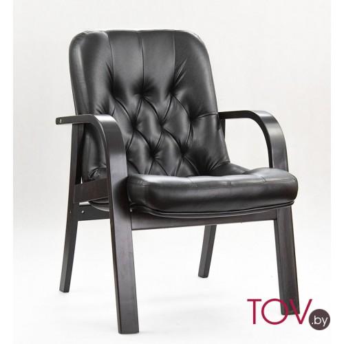 """Кресло для посетителей Премьер ДО из эко-кожи """"Вегас Сиена"""" черного цвета"""