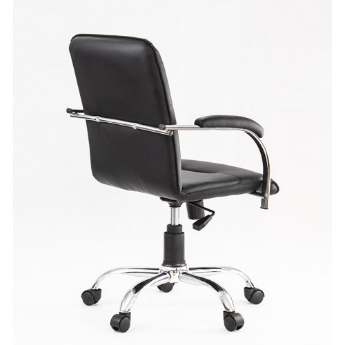 """Кресло """"Самба"""" из экокожи """"Трикс 38"""" черного цвета"""