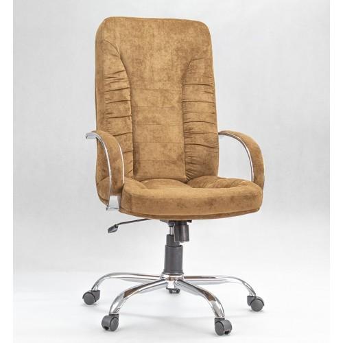 """Кресло """"Танго Хром"""" из ткани """"Пирл 006"""" коричневого цвета"""