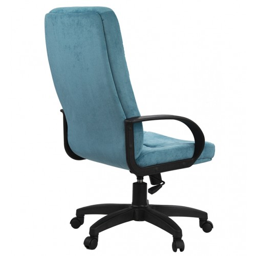 "Кресло ""Менеджер Пластик"" из ткани ""Пирл 141"" бирюзового цвета"